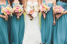 Lovely bridesmaid dresses » Cape Cod Wedding at Wychmere Beach Club (photographed by First Mate Photo Co.)