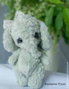Слоник тедди Зеленая пастель - мятный,слоник,слон,слоненок,слон тедди