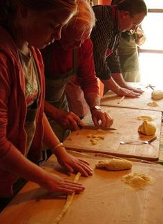 Learn to cook in Italy at Fontana del Papa. Stay in the family home in lovely light and airy bedrooms with views of the Italian countryside. Family life goes on around out and lessons take place in a normal kitchen.