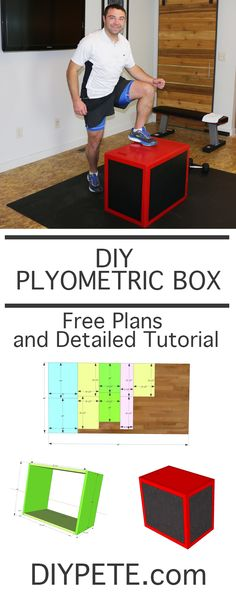 to Make a Plyometric Box How to make a simple DIY Plyometric Box for your home gym!How to make a simple DIY Plyometric Box for your home gym! Diy Home Gym, Home Gym Decor, Gym Room At Home, Best Home Gym, Diy Gym Equipment, No Equipment Workout, Fitness Equipment, Homemade Gym Equipment, Workout Gear