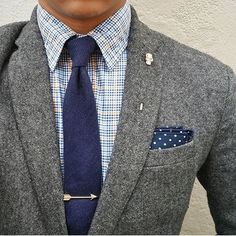 Its all in the details. #tiebar #pocketsquare
