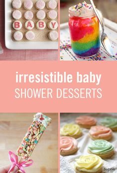 So you're hosting a baby shower and want everything to be perfect, right? You've come up with the theme, the invitations, the food, the games, and even the prizes, but what about the best part of any party? Yes, we're talking dessert! From rice krispie treats to rainbow cakes, here are the sweetest baby shower treats around, that are not only worthy of all the Instagram pics, but second (and third) helpings!