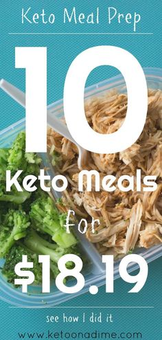 Keto food preparation The Keto diet on a small budget is possible! You can prepare delicious, low-carbohydrate, high-fat meals that will not cost you an arm or a leg. I'll show you what I've been able to prepare 10 keto meals for USD! Keto Meal Plan, Diet Meal Plans, Keto Regime, Keto Diet Side Effects, Desserts Keto, Keto Snacks, Keto On A Budget, Budget Meal Prep, Meal Prep Cheap