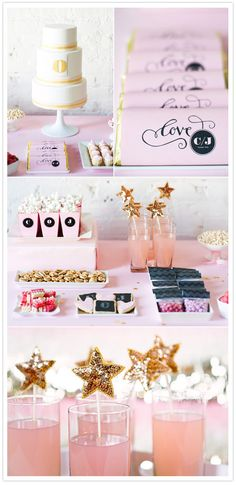 Graphic + Glitz inspiration wedding shoot.  Pink, glitter, sparkle, chevron, what's not to love? Concept and Styling by Maddy Hague of the Inspired Bride, images by Paper Antler
