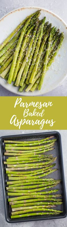 This Parmesan Baked Asparagus recipe is a quick and easy side dish that's perfect for dinner. You can't go wrong with cheesy asparagus! Esparagus Recipes, Side Dish Recipes, Vegetable Recipes, Real Food Recipes, Cooking Recipes, Best Asparagus Recipe, Grilled Asparagus Recipes, Baked Asparagus, Recipes