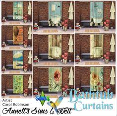 Sims 4 CC's - The Best: Bathtub Curtains by Annett85