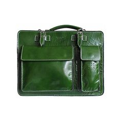 Ladies Green Italian Leather Briefcase/Work Bag(Medium Size) - RRP £74.99, our price - £59.99