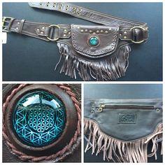 Sacred geometry leather fringe utility belt by NayturesEmpire on Etsy https://www.etsy.com/listing/273558914/sacred-geometry-leather-fringe-utility