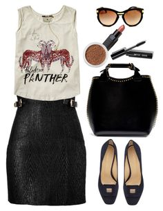 """""""Scotch & Soda Rock Theme Tee With Sheer Back And Tie Detail"""" by thestyleartisan ❤ liked on Polyvore"""