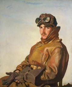 """Sir William Orpen 1917 """"Lt Reginald Theodore Carlos Hoidge""""..for his service and uniform..through Adam and Eve"""