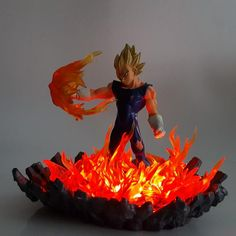 Dragon Ball Z Vegeta Super Saiyan Led Lamp Dbz, Dragon Ball Z, Figurine Dragon, Diy 3d, Light Bulb Lamp, Led Lamp, Anime Store, Cool Dragons, Cloud