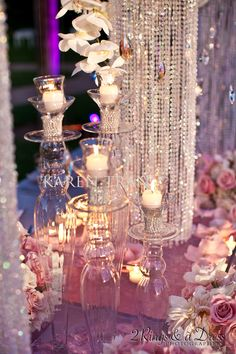 Crystal and pink wedding ~ Lots of bling!