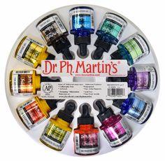 PaperInkArts.com | Set 2 of Dr. Martin's Iridescent Ink