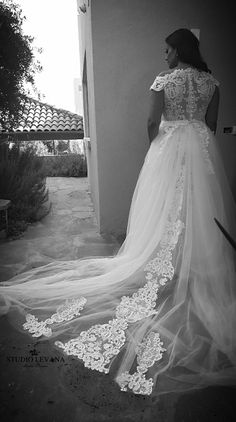 Curvy princess in a plus size wedding gown from Studio Levana