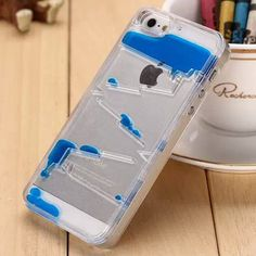 Creative Plastic Transparent Quicksand Water Style for iPhone 5/5S (Assorted…