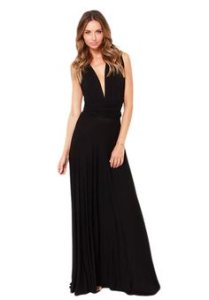 Multi-way Maxi Gown. So many different ways to wear it!  Found on http://explorate.in/