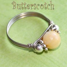 BUTTERSCOTCH Celebration Party Ring with Mother of Pearl in Silver Sizes 3 - 10 by Maru