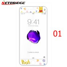 i7 Full cover colored 3D screen tempered glass Soft edge cute Explosion Proof screen protector for iphone 7 7plus tempered glass
