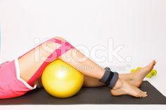 Exercise with injured leg royalty-free stock photo