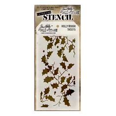 Stampers Anonymous Tim Holtz Holly Bough Layering Stencil