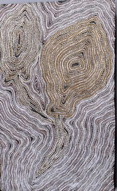 Gurrundul Marawili, Lulumu, ochres on bark, 51 x 83 cm Buku Larrnggay Mulka, Yirrkala, Arnhem Land. For more Aboriginal art visit us at www.mccullochandmcculloch.com.au #aboriginalart #australianart #contemporaryart