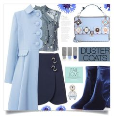 """""""Long Layers: Duster Coats"""" by samra-bv ❤ liked on Polyvore featuring Needle & Thread, TIBI, Monsoon, Aquazzura, Fendi, Burberry, Marc Jacobs, contest, contestentry and polyvoreeditorial"""