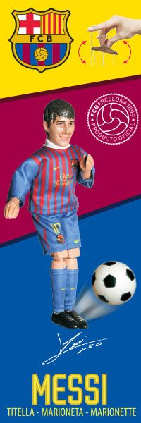 FC Barcelona the official product. Are you a Barca FAN? You must have FC Barcelona marionette. Fc Barcelona, Messi, Fan, Movies, Puppet, Films, Cinema, Hand Fan, Movie
