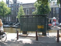 "old toilet for men ""de Krul"""" Amsterdam near the amstel"