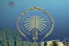 Arial view design for The Palm, Jebel Ali