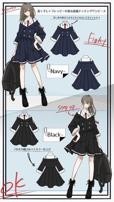 Anime Outfits, Cute Outfits, Fashion Outfits, Drawing Anime Clothes, Fashion Design Drawings, Fantasy Dress, Character Outfits, Kawaii Fashion, Dresses