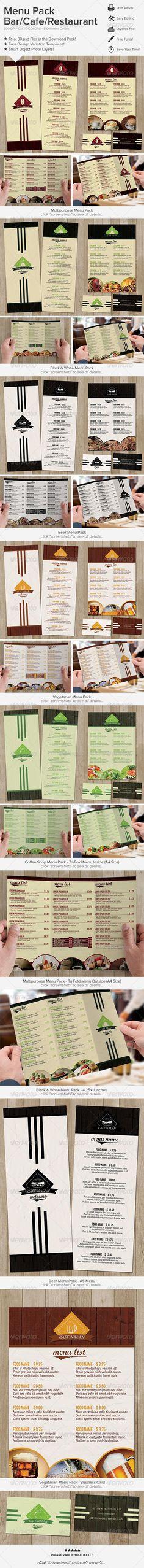 Bi Fold Food Menu Food menu, Menu and Food menu template - food menu template