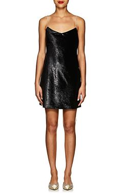 762da9d59da We Adore  The Evelyn Crystal-Strap Velvet Slipdress from Area at Barneys  New York