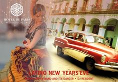 """Latino New Year's Eve!  Gipsy, Pop Gipsy, Great Classics of music, Salsa… Experience the charms of the Andalusian and Latino spirit and enjoy a festive and happy moment. Hot rhythms will beat at Hôtel de Paris Saint-Tropez and really heat up the dance floor into the wee hours of the morning. Taste an audacious and generous buffet menu developed by our Chef Romain Géraud, combining savors, flavors and colors - and Cuban cocktails at the Atrium Bar! A real """"Gipsy chic"""" gateway."""