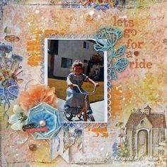 Layout for C'est Magnifique using Blue Fern Studios Autumn Anthology by @scrappinready