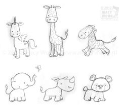 Cute Baby Animal Drawing Pictures Chibi Animals 3 By