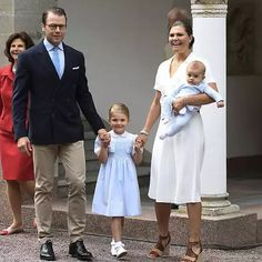 July 14, 2016: Crown Princess Victoria of Sweden, Prince Oscar of Sweden, Princess Estelle of Sweden and Prince Daniel of Sweden arrive for Birthday celebrations of Crown Princess Victoria of Sweden at Solliden Palace in Oland, Sweden.