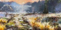 'A Hint of Winter' by Gleb Goloubetski Oil on Canvas 50cm x 100cm