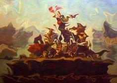 Christoph Steinmeyer   Tennessee Waltz - 2007   Oil on canvas   205 x 280 cm / 80,7 x 110,2 in.
