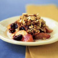 Summer fruit gratin. Serve warm or at room temperature.