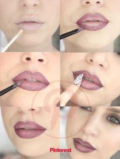 Lip Liner Tutorial, Ombre Lips Tutorial, Lip Makeup Tutorial, Lipstick Tutorial, Best Lipstick Color, Best Lipsticks, Blue Lipstick, Lipstick Set, Lipstick Shades