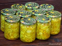 Najlepsza sałatka teściowej na zimą - Obżarciuch Edible Food, Canning Recipes, Preserves, Pickles, Mason Jars, Clean Eating, Food And Drink, Healthy Recipes, Cooking
