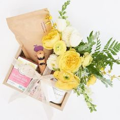 """""""The New Mom Box now includes delicious Granola Cookies from @littleappletreats, @earthtuface Skin Stick, @herbivorebotanicals Coconut Bath Soak, @earthmamaangelbaby Nipple Butter, and Mother's Milk Tea @tradmedicinals. All the essentials to help heal the new mamas"""