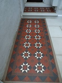 victorian edwardian mosaic tile path company man front garden dulwich peckham forest hill gipsy hill streatham london