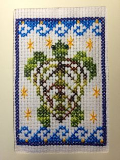 Beginning Embroidery Kit. Cross stitch sea by CrosswiseDesigns