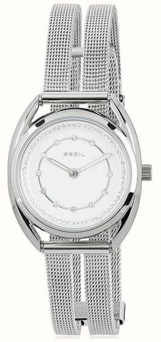 99e180c7e2cb Breil Petit Stainless Steel Silver Crystal Set Dial