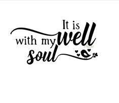 It is well with my soul svg CUT file for silhouette cameo cricut Christian Hymn faith t-shirt decal mug svg It is well hymn w bird svg file by DesignStoreByBlake on Etsy