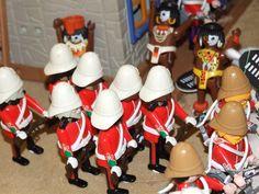 ZULU - Playmobil style.  British 24th Foot repel a Zulu attack at Rorke's Drift