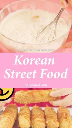 Korean Corn Dog Recipe, Cheese Corn Dog Recipe, Cheese Dog, Korean Street Food, Korean Food, Corndog Recipe, Easy Food To Make, Food To Go, Hot Dog Recipes