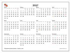 Gratis! Calendarios para  2017 para imprimir - España