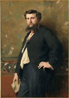 "John Singer Sargent (American, 1856–1925). Edouard Pailleron, 1879. Musée national du château de Versailles, on deposit at musée d'Orsay, gift of Mrs Edouard Pailleron, 1900 | This work is in our ""Sargent: Portraits of Artists and Friends,"" on view through October 4, 2015."